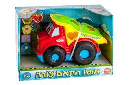 אוטו התאם צורה משאית חול בצבע אדום