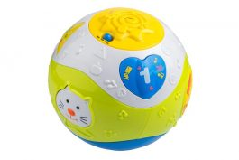 חבילת צעצועי התפתחות: כדור זחילה, חיות קופצות, מגדל כוסות