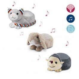 בובה ומקרן כוכבים עם מוזיקה מרגיעה וחיישן לבכי