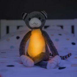 3 ב1: צעצוע רך ומנורת לילה ונגן – קייטי ומקס