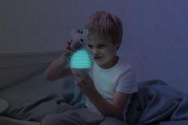 2 ב-1: מנורת דחיפה ובובה למשחק