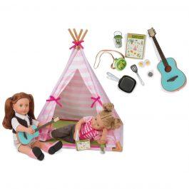 סט מיני אוהל טיפי לבובה
