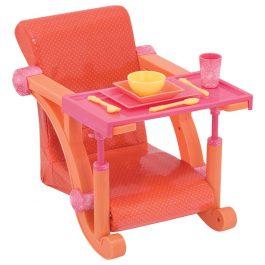 כיסא אוכל לבובה מתחבר לשולחן