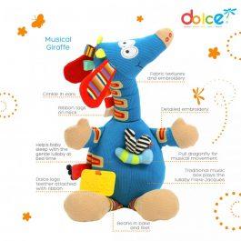 צעצוע פעילות ג'ירפה מוזיקלית